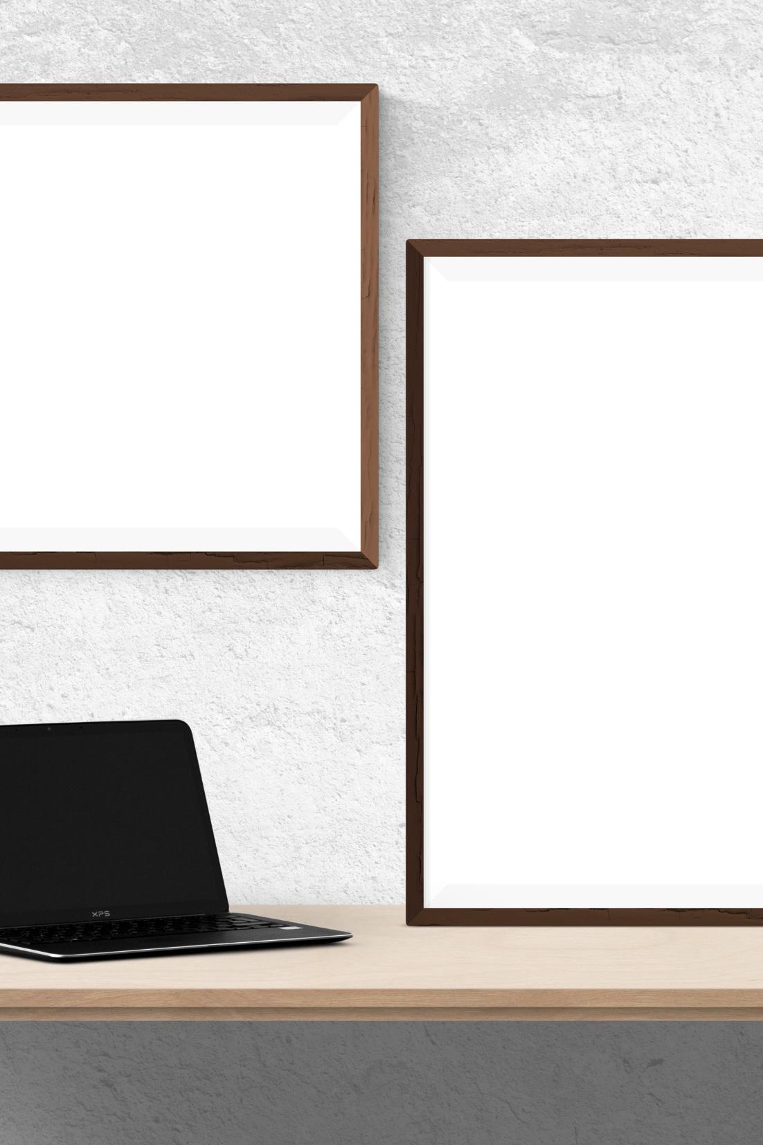 2 frames, desk & laptop depicting Consulting for Van Dusen Nutrition