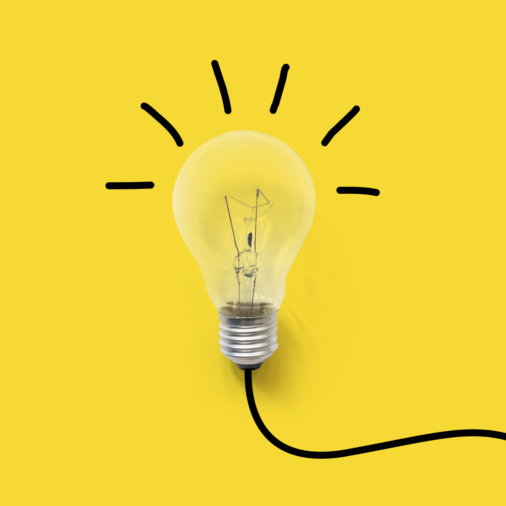 Lightbulb on Yellow Background Consult on the keyboard White Board Describing Consulting for Van Dusen Nutrition