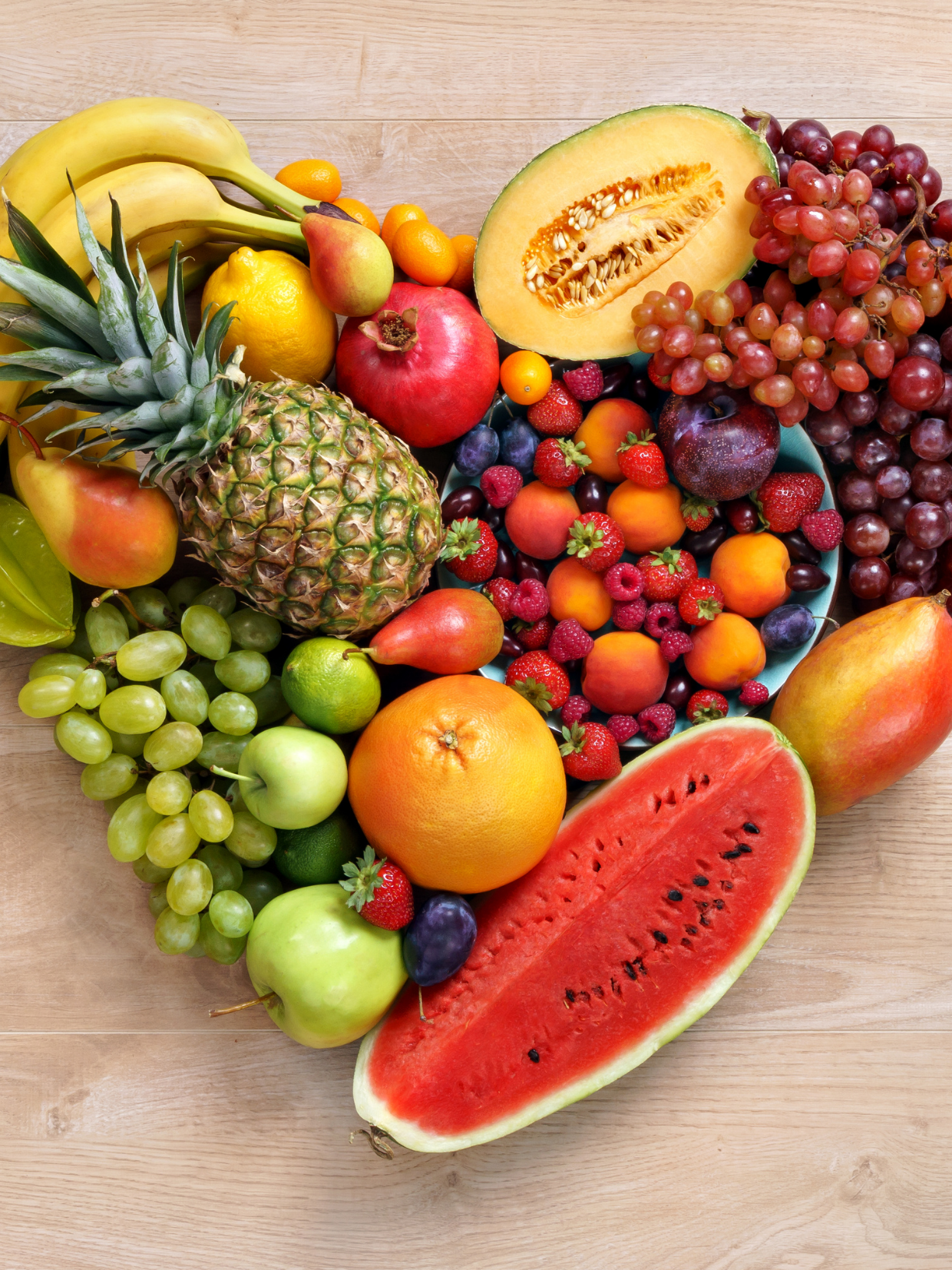 Fruit in Heart Shape