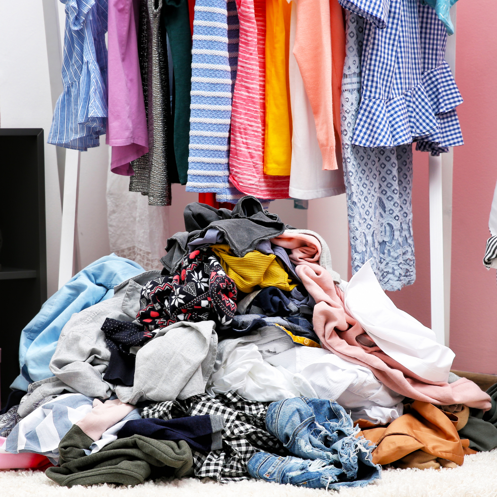 Pile of clothes depicting Weight & Body Concerns