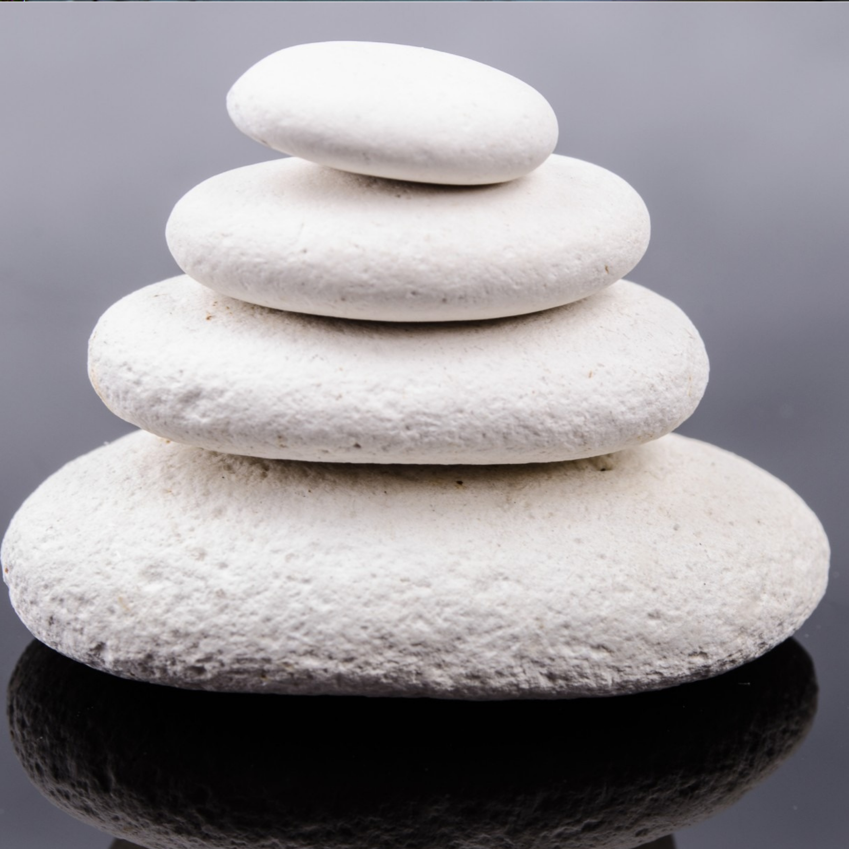 White Rocks Stacked depicting Weight & Body Concerns
