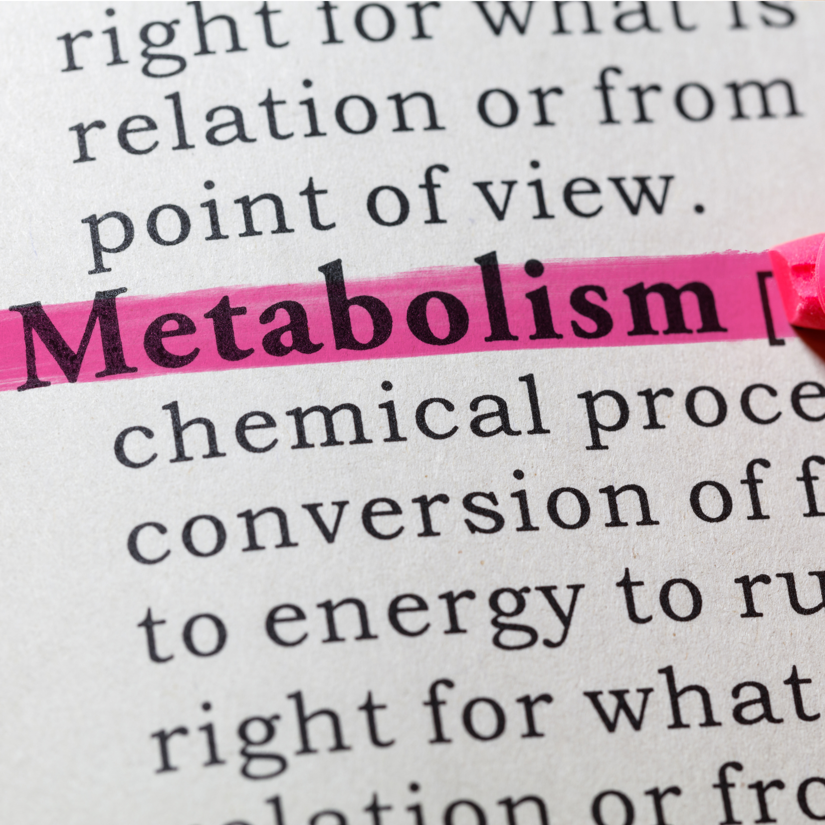 Metabolism Describing Metabolic Testing for Van Dusen Nutrition