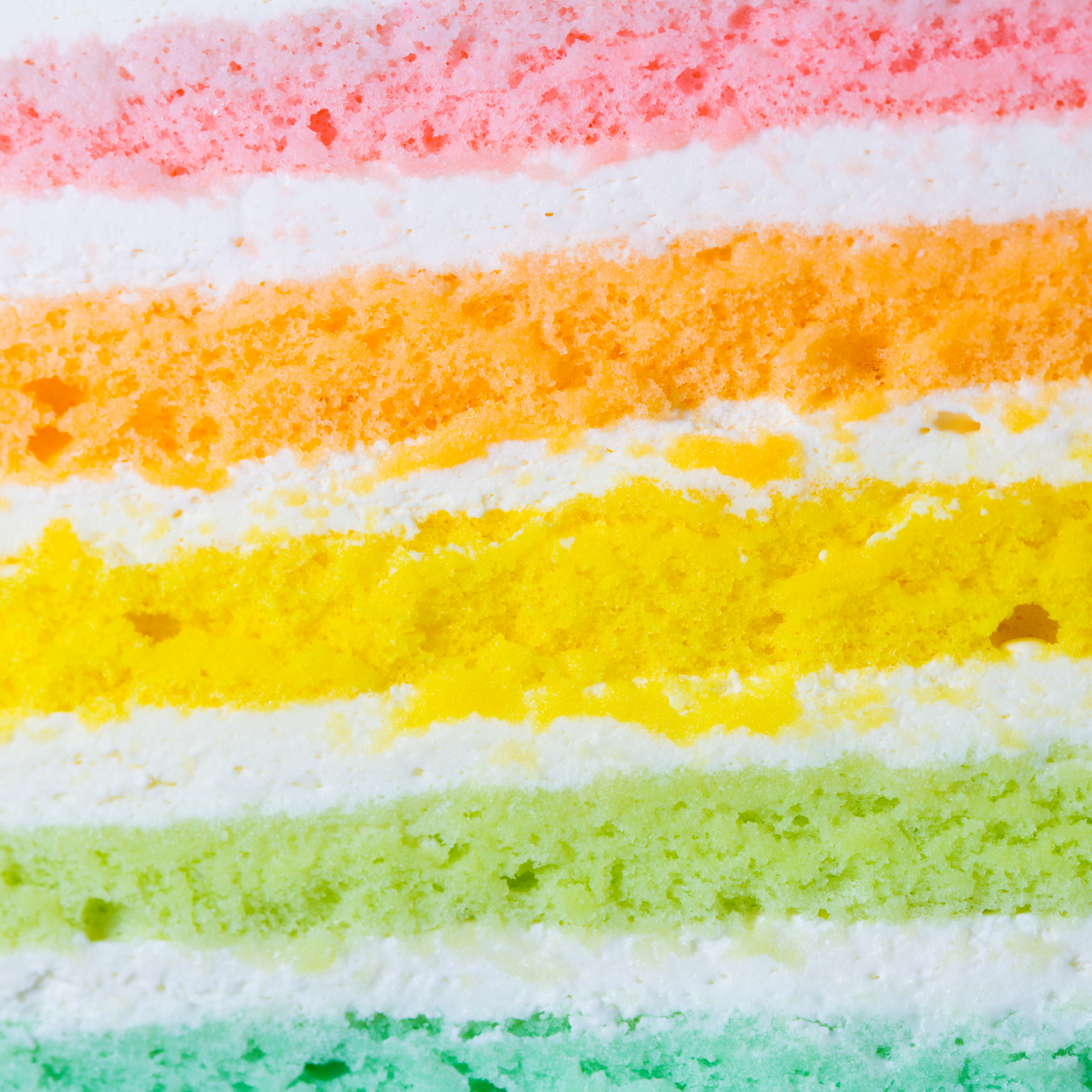 Rainbow cake slice depicting Disordered Eating