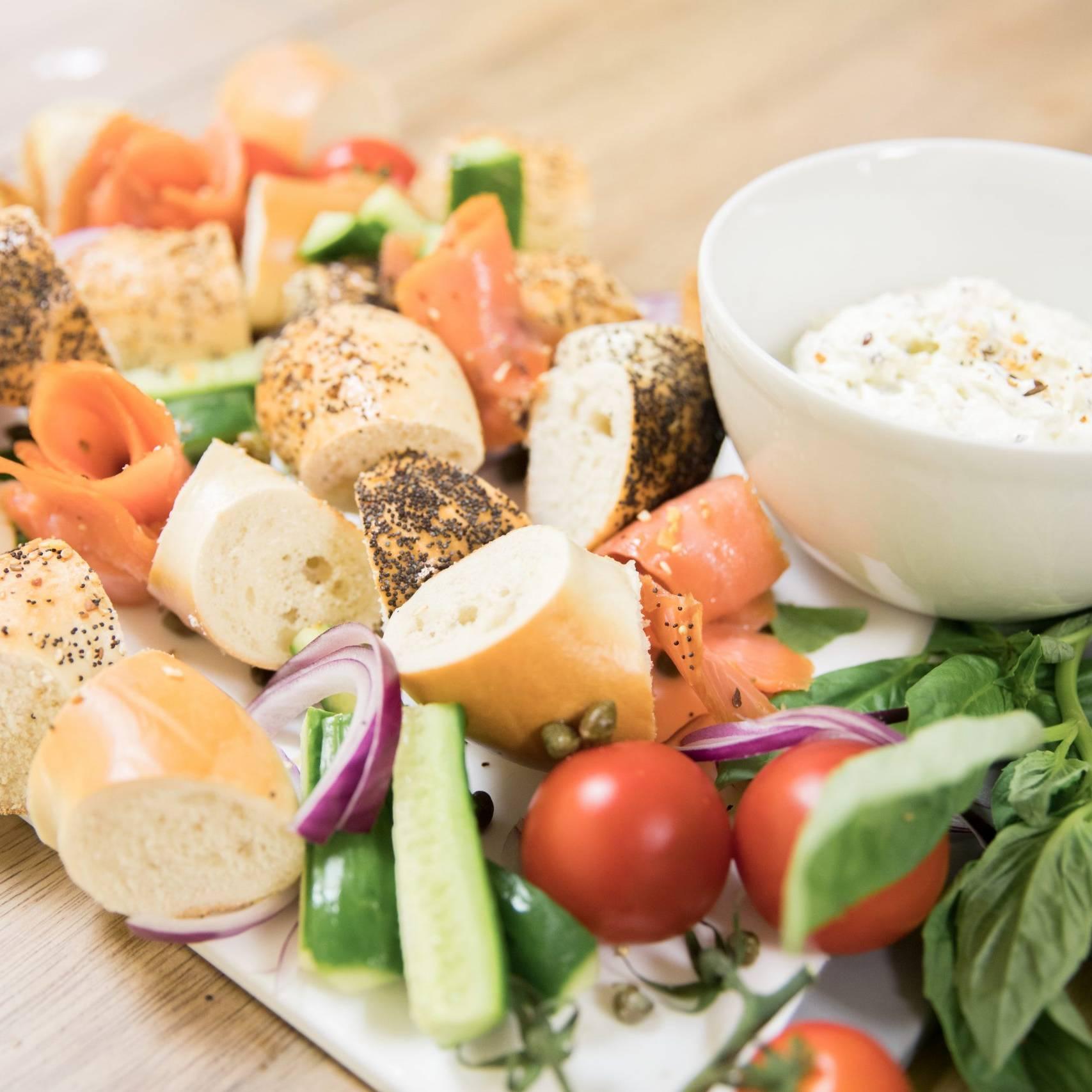 Bagel Board at Van Dusen Nutrition